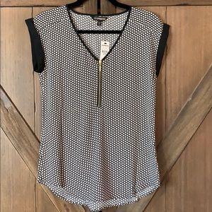 NWT Express women's 1/4 zip- up blouse